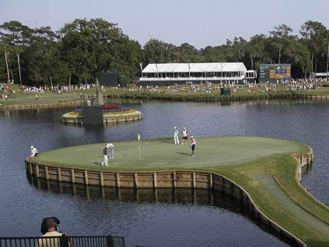 The 17th hole hole at TPC Sawgrass on May 10, 2013