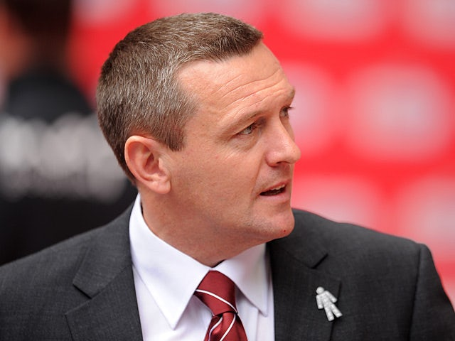 Northampton boss Aidy Boothroyd prior to kick off against Bradford on May 18, 2013