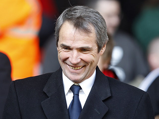 Alan Hansen in the stands on March 6, 2011