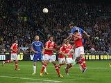 Chelsea's Branislav Ivanovic heads in the winning goal against Benfica on May 15, 2013