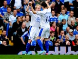 Everton's Steven Naismith celebrates scoring against Chelsea on May 19, 2013