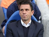 Brighton manager Gus Poyet in the dugout during the play off match against Crystal Palace on May 13, 2013