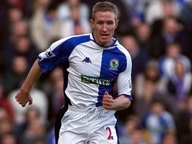 Full-back John Curtis in action for Blackburn Rovers.