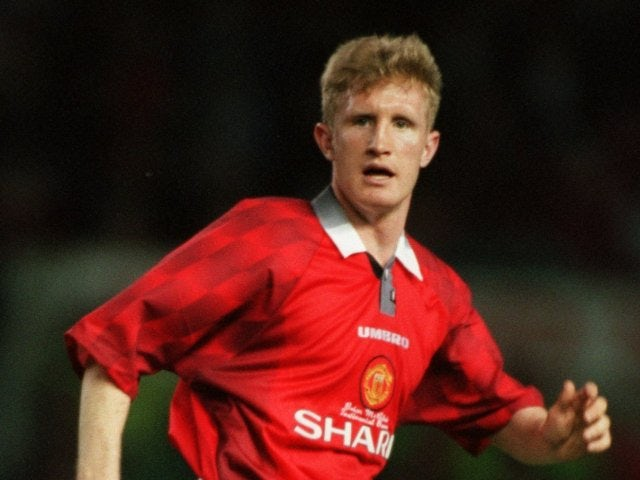 John Curtis playing for Manchester United in 1997