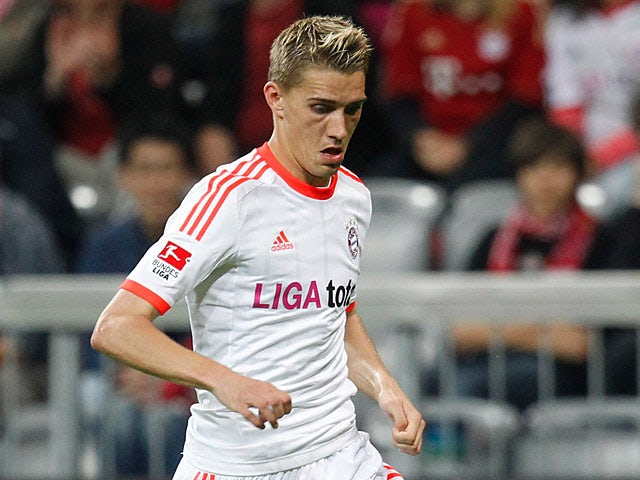 Munich's Nils Petersen in action on May 22, 2012