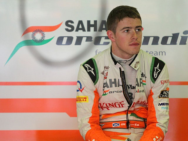 Force India driver Paul Di Resta during practise on May 10, 2013