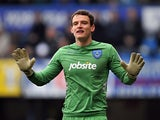 Portsmouth keeper Simon Eastwood in action on March 23, 2013
