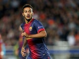 Barcelona's Thiago Alcantara in action on May 1, 2013