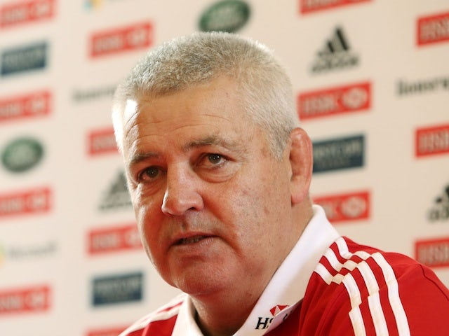 Lions coach Warren Gatland at a press conference on May 13, 2013