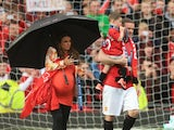Wayne Rooney and his family at Old Trafford.