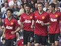 Manchester United's Shinji Kagawa celebrates scoring against West Brom on May 19, 2013