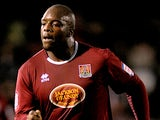 Northampton Town's Adebayo Akinfenwa in action on November 20, 2012