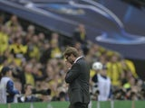 Dortmund coach Juergen Klopp during the Champions League final on May 25, 2013