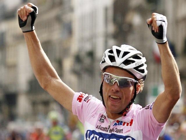 Italian Danilo Di Luca celebrates a win on June 3, 2007