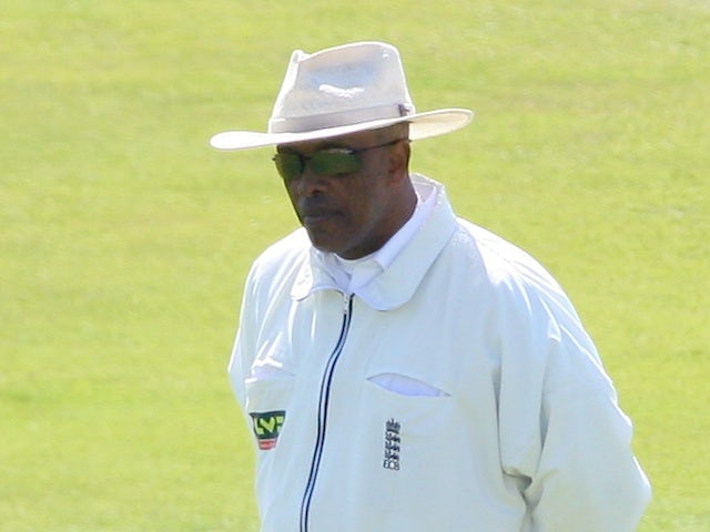 Cricket umpire John Holder during a county match on May 2, 2007