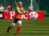 Paul O'Connell during a training session in Dublin on May 21, 2013