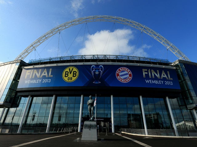 Wembley Stadium prior to the Champions League final on May 25, 2013