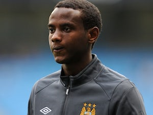 City youngster Abdisalam Ibrahim warms up against Valencia on August 7, 2010