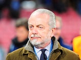 Napoli president Aurelio De Laurentiis on November 22, 2011