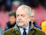 Napoli president Aurelio De Laurentiis on November 22, 2011