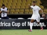 Algeria's El Arabi Soudani celebrates after scoring against the Ivory Coast on January 30, 2013