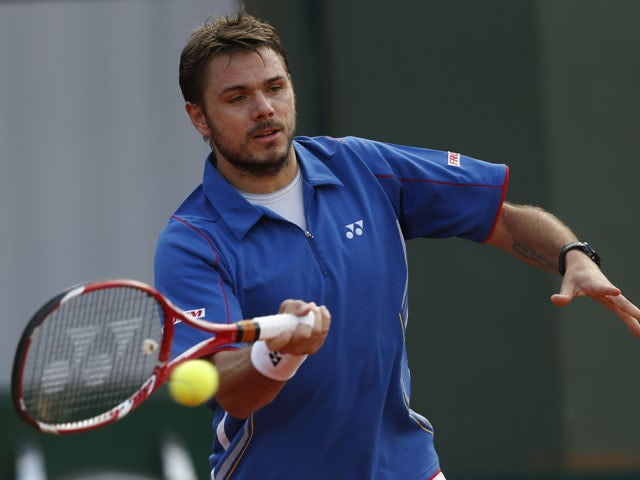 Switzerland's Stanislas Wawrinka during the first round match of the French Open tennis tournament on May 28, 2013