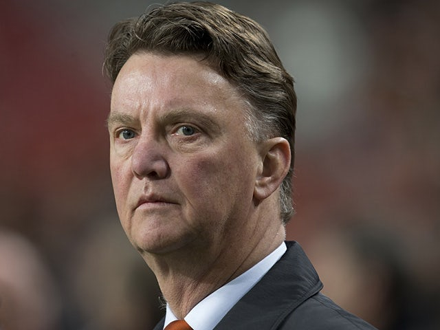 The Netherlands coach Louis van Gaal on the touchline on March 22, 2013
