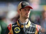 Lotus Romain Grosjean during qualifying for the Spanish Grand Prix on May 11, 2013