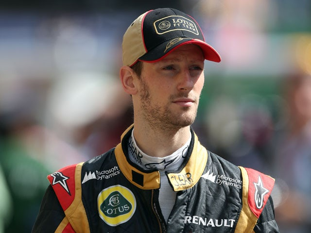 Grosjean happy with third place