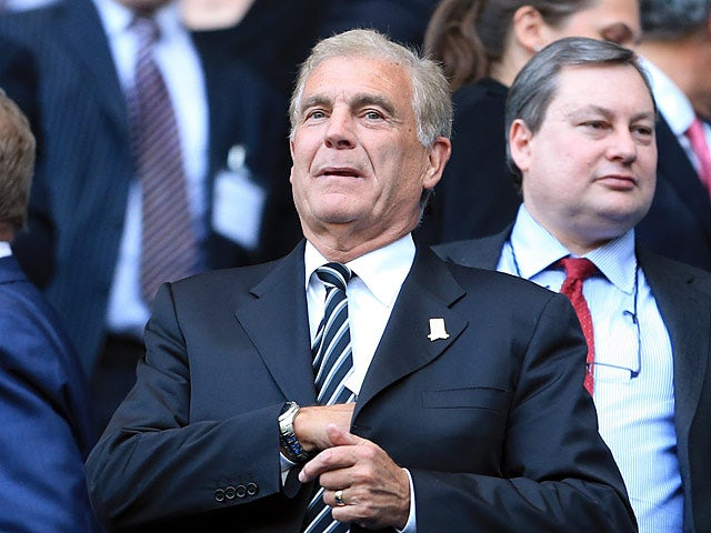 The FA's Director of Football Development Sir Trevor Brooking in the stands on May 7, 2013