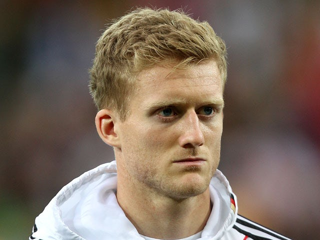 Germany's Andre Schurrle prior the match against Greece on June 22, 2012