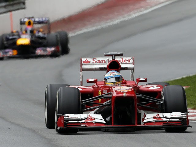 Ferrari driver Fernando Alonso during the first practice session for the Canadian Grand Prix on June 7, 2013