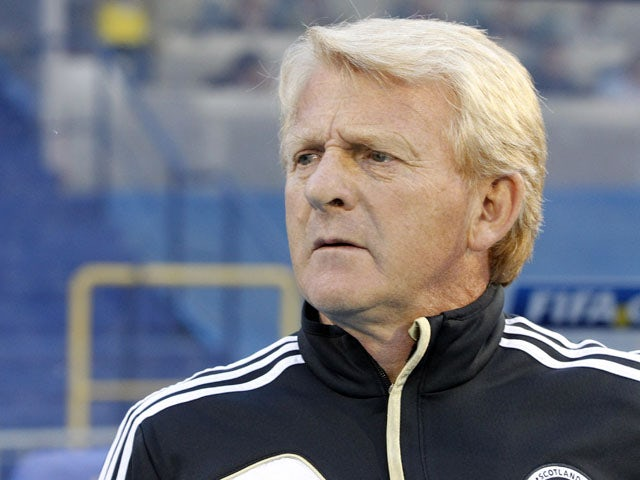 Scotland's head coach Gordon Strachan during the World Cup qualifying match against Croatia on June 7, 2013