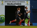 Scotands Robert Snodgrass celebrates scoring during against Croatia during the World Cup qualifying match on June 7, 2013