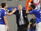 Italy coach Devis Mangia gestures after his side score against England on June 5, 2013