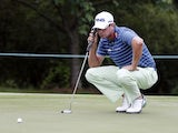 Harris English studies a putt at the St Jude Classic on June 7, 2013