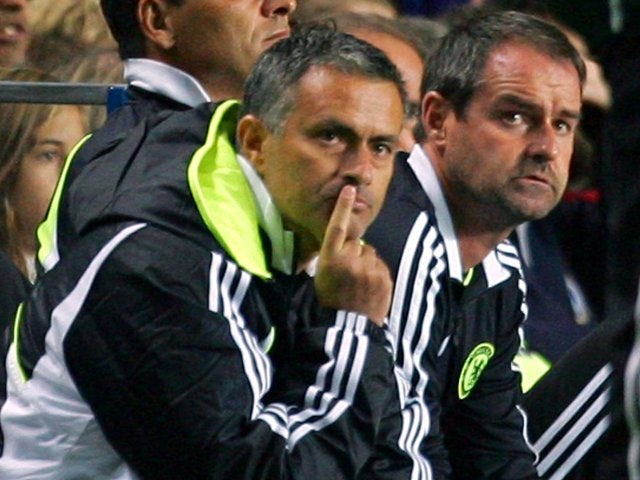 Goodbye for now - Mourinho's first stint in charge ended after a 1-1 home draw with Rosenborg in the Champions League.