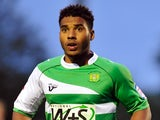 Yeovil's Reuben Reid playing on August 28, 2012