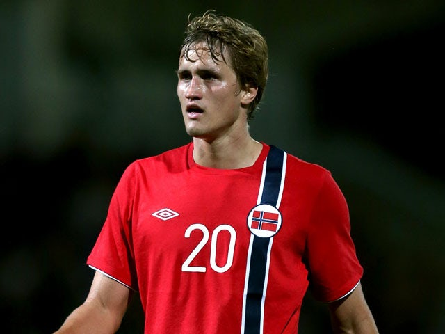 Norway's Thomas Rogne during the Under 21 match against England on September 10, 2012