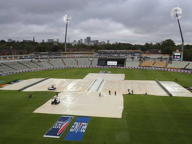 The abandoned ICC cricket match between Australia and New Zealand at Edgbaston on June 12, 2013