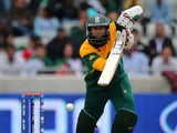 South Africa's Hashim Amla at the crease against Pakistan on June 10, 2013
