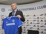 Chelsea boss Jose Mourinho at his first press conference on June 10, 2013
