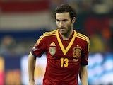 Spain's Juan Mata in action on February 6, 2013