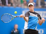 Sam Querrey in action against Aljaz Bedene during the AEGON Championships at The Queen's Club on June 11, 2013