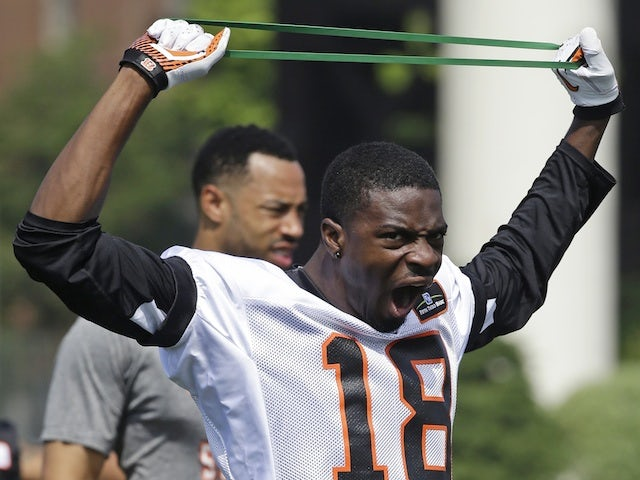 Bengals WR AJ Green at a training camp on May 29, 2013