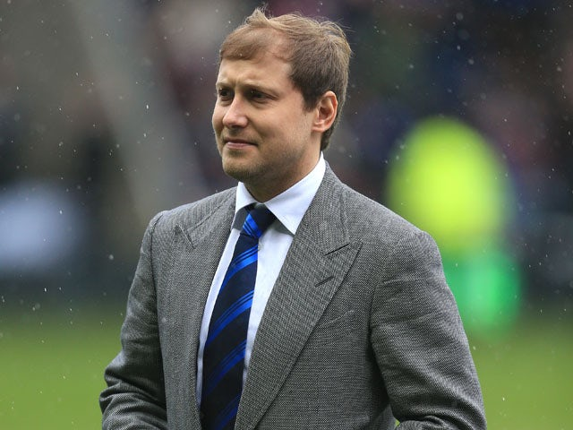 Reading owner Anton Zingarevich before the Premier League match against Liverpool on April 13, 2013