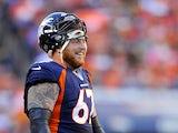 Denver Broncos center Dan Koppen in action on November 17, 2012