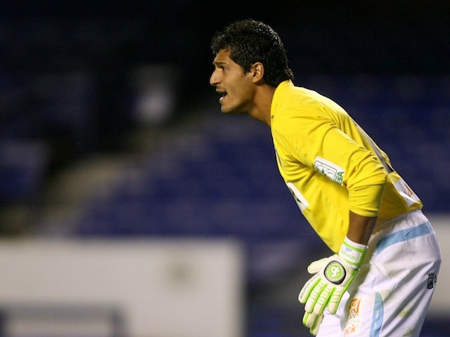 Gustavo Munua, when playing for Malaga on August 7, 2009
