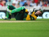 South Africa's AB de Villiers during the ICC Champions Trophy match against England on June 19, 2013