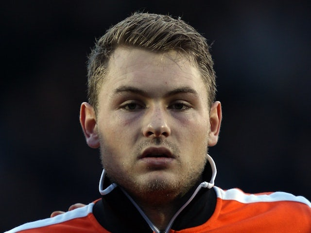 Holland 'keeper  Jeroen Zoet before a game with Scotland on February 29, 2012
